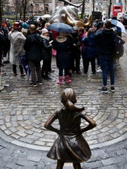 'The Fearless Girl' statue.