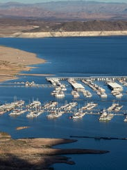 The Las Vegas Boat Harbor and Lake Mead Marina show