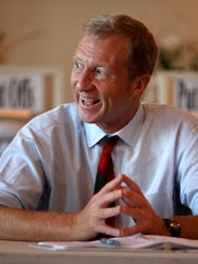 Billionaire environmentalist Tom Steyer meets with