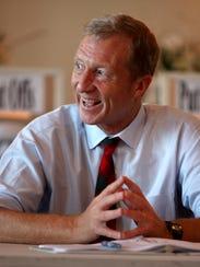 Billionaire environmentalist Tom Steyer meets with