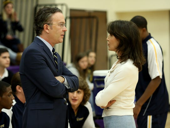 Timothy Hutton, left, and Felicity Huffman star in