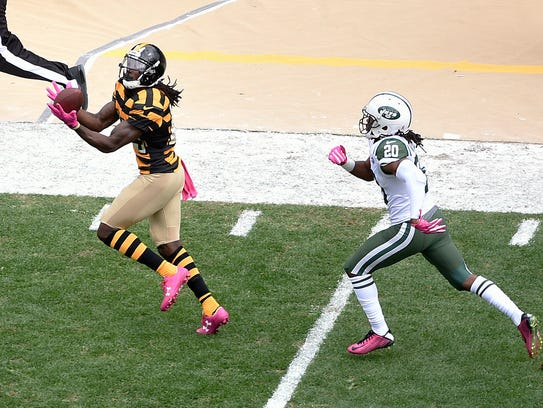 Pittsburgh wide receiver Sammie Coates takes a pass