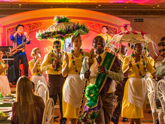 New on Disney Wonder is Tiana's Place, a New Orleans-inspired