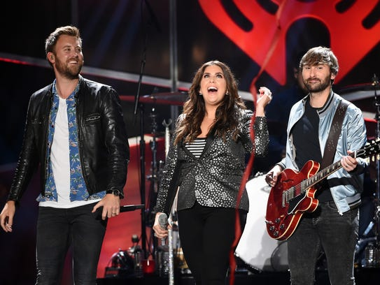 Musicians Charles Kelley, Hillary Scott and Dave Haywood