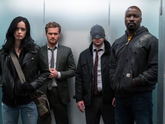 """Marvel's The Defenders"" is now on Netflix."