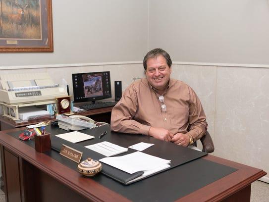 Jay Mallard in his office