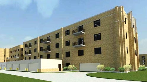 An artist's rendering of a proposed addition to the Buehler Home senior-living facility in Central Peoria. No timetable has been set for its construction.