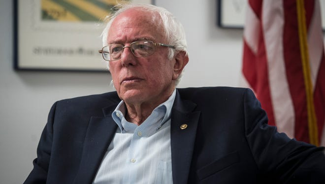 Vermont Sen. Bernie Sanders, I-VT, sits down for a one-on-one interview with the Free Press on Monday, August 23, 2016, of his office in Burlington.