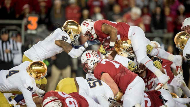 Last year's Notre Dame vs. Stanford game featured two ranked teams. Neither are ranked ahead of this week's matchup.