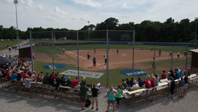 Southern Indiana takes on Wayne State for the NCAA Division II Midwest Super Regional championship at USI Softball Field Friday afternoon. USI won the game 5-0.