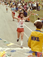 Clay Shaw is pictured running in a previous race. Shaw completed his 200th marathon in February.