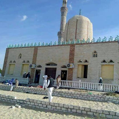 Hundreds killed in Egypt mosque attack, state media reports