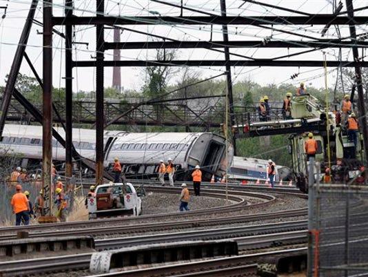 APTOPIX Amtrak Crash