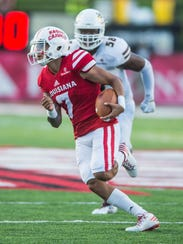 Quarterback Andre Nunez played in four games for UL last season, including this one against UL Monroe.