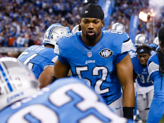 Detroit Lions defensive end Darryl Tapp on Thanksgiving last year.