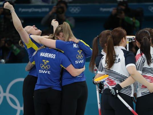 Olympics: Curling-Women Team Final 1-2