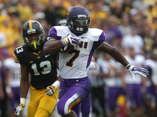 At No. 107 on the Sports Illustrated top 300 NFL Draft prospects list is UNI running back David Johnson