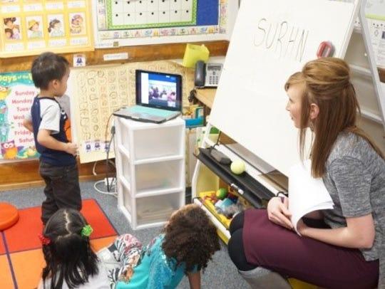 Ms. Rittenberry's kindergarten class at Grant Elementary
