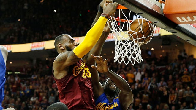 LeBron James should have been whistled for a technical foul on his monster fourth-quarter dunk.
