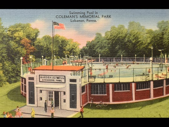 Historic postcards from the Lebanon County Historical