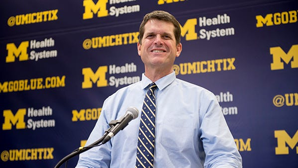 Jim Harbaugh and the Wolverines are a 3 1/2-point underdog to the Spartans.