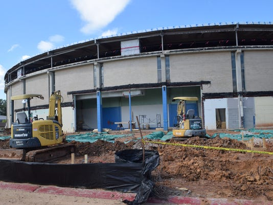The Rapides Parish Coliseum is being remodeled. -Melinda Martinez/The Town Talk