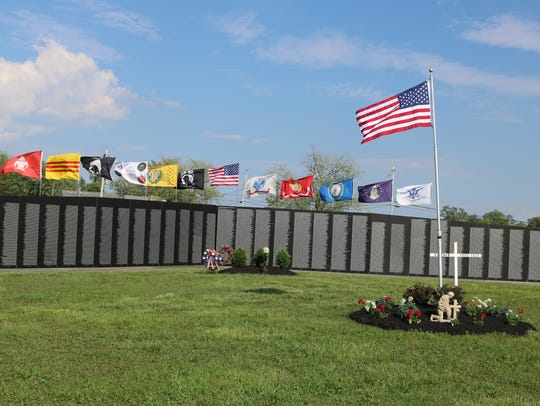 The Vietnam traveling wall, a replica of the Vietnam