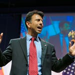 Louisiana Gov. Bobby Jindal speaks at the Iowa Faith & Freedom 15th Annual Spring Kick Off, in Waukee, Iowa, Saturday, April 25. The governor then made a stop in Washington last week.