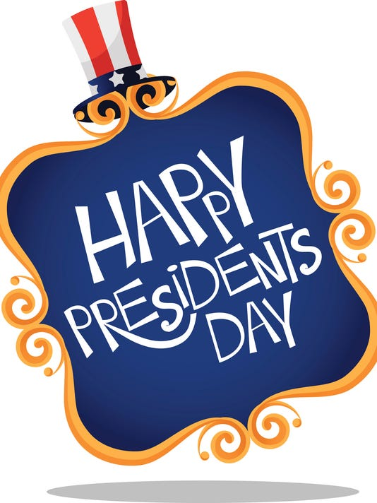 Gold scroll frame Presidents Day icon