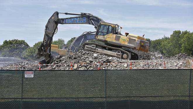 Demolition of the old Chapman Middle School is ongoing in Weymouth.