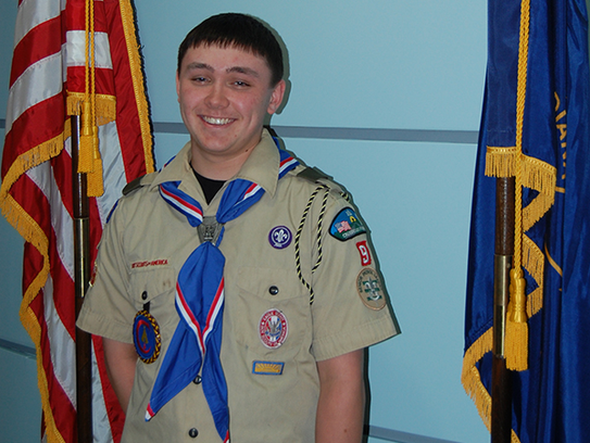 Jeremy Marvin has achieved the rank of Eagle Scout.