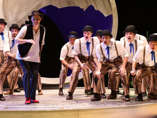 """Michael McCown portrays Johnny Inkslinger, left, in Benjamin Britten's """"Paul Bunyan"""" with Oper Frankfurt. McCown, a Cooper High School and Hardin-Simmons University graduate, is beginning his 18th season with the German opera company. He will perform hymns from his new CD, """"Songs I've Always Known,"""" Aug. 31 at First Baptist Church."""