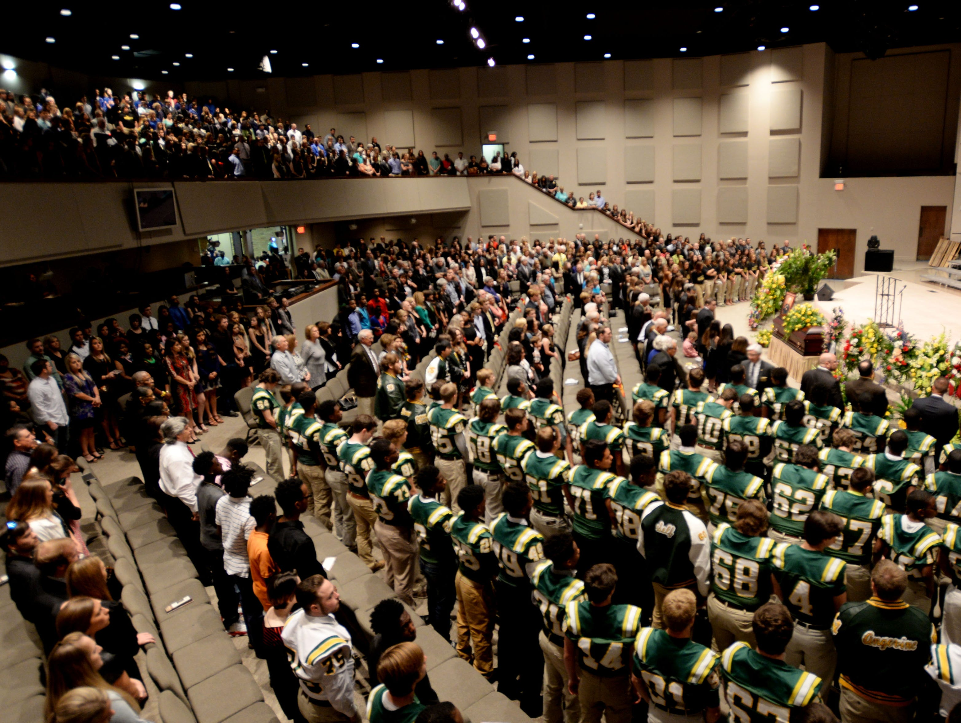 Calvary Baptist Church was filled with people for the Celebration of Life service for coach Richard Lary on Wednesday morning.