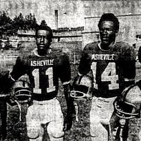South French Broad players in 1968 who, with the exception of Wilks, played for Asheville High the next year included, from left, James Fair, Al Wilks, John Gaines and Fred Ryan.