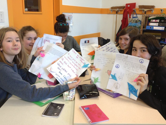Warren Students Receive Letters From French Students