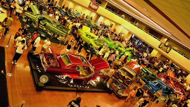 The Showcase Supershow features low riders, classic cars and trucks, hot rods and antique cars from the '30s to '50s.