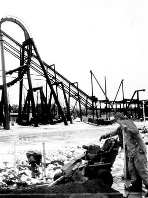 1993: Batman The Ride is under construction at Six Flags Great Adventure.
