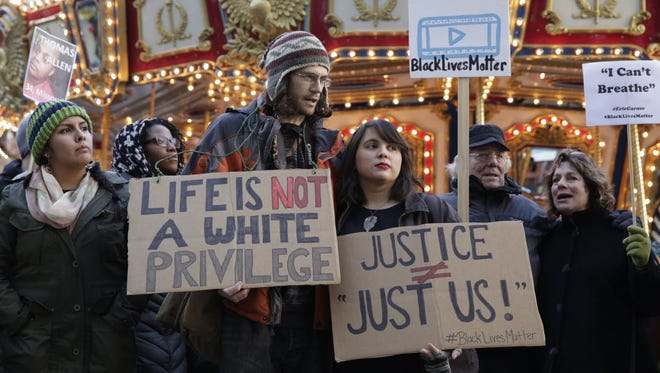 Black Lives Matter supporters in Seattle in November.