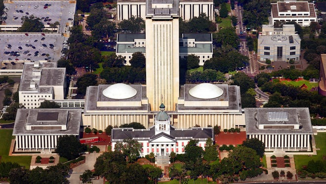 Florida Capitol Building from the air.