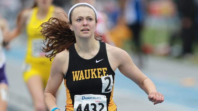 Waukee senior Erika Lewis signed a letter of intent with Louisiana State on Wednesday.