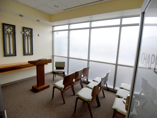 The chapel at the new Avita Health System in Ontario.