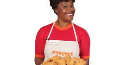 Where is the famous Popeye's lady?