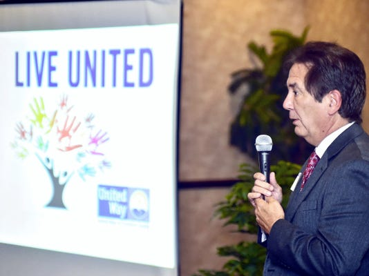 Mike Ross, preisdent of Franklin County Area Development Corp., is the campaign chairman for United Way of Franklin County. Ross spoke during the kickoff luncheon Wednesday at The Orchards.