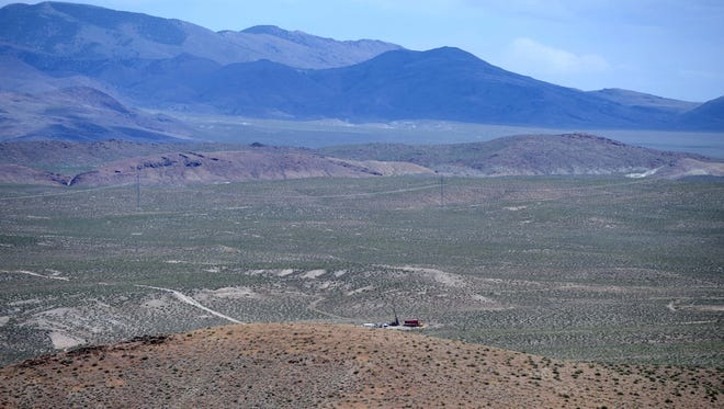 A look at the Pumpkin Hollow copper mining site near Yerington in May 2011.