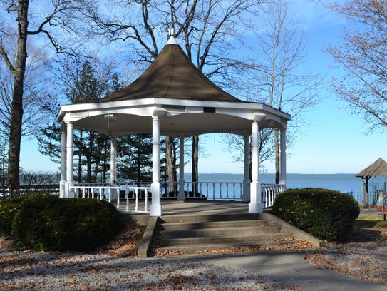 The Steele Memorial Bandstand/Gazebo, built in 1979,
