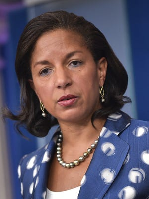 In this July 22, 2015 file photo, Obama National Security Advisor Susan Rice speaks during the daily briefing at the White House.