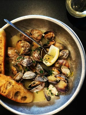 Butter and garlic clams.