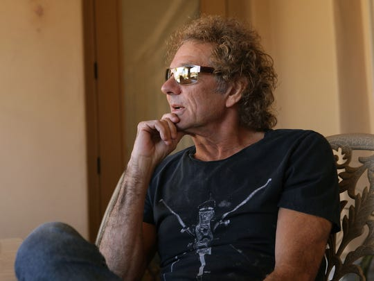Mickey Thomas talks about his music career during an interview at his Palm Desert home, November 26, 2015.