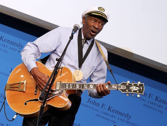 Chuck Berry performed in Green Bay in 1974 and 2009.