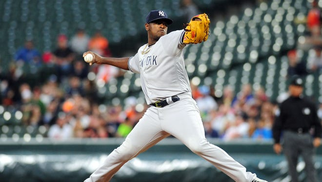 Yankees pitcher Luis Severino has lifted his strikeout-to-walk ratio to 4.5 this season.